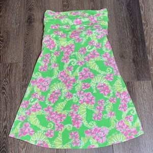 Lilly Pulitzer green strapless dress